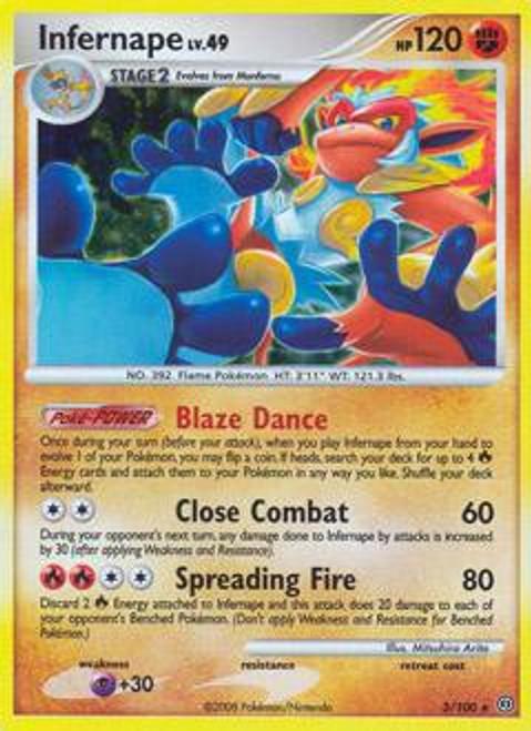 Pokemon Diamond & Pearl Stormfront Rare Holo Infernape #3