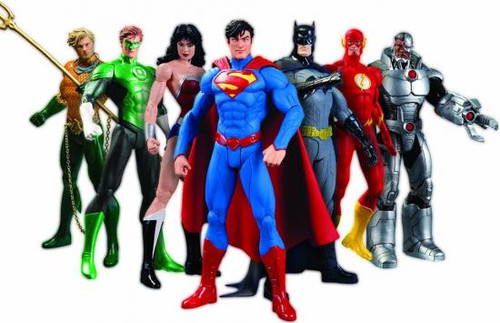 DC Justice League New 52 Action Figure 7-Pack