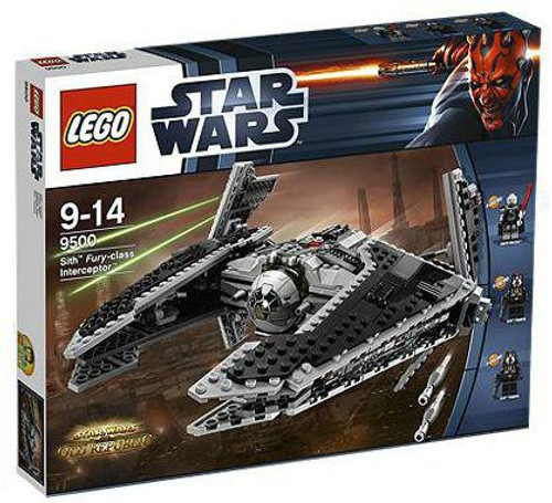 LEGO Star Wars The Clone Wars Sith Fury Class Interceptor Set #9500