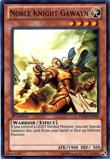 YuGiOh Trading Card Game Return of the Duelist Super Rare Noble Knight Gawayn REDU-EN000