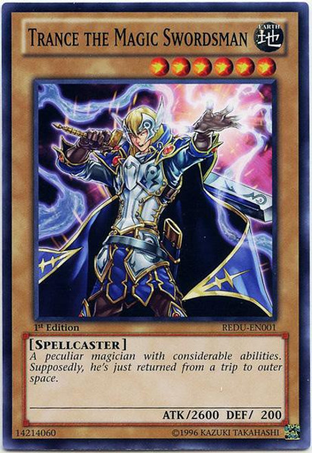 YuGiOh Trading Card Game Return of the Duelist Common Trance the Magic Swordsman REDU-EN001