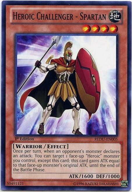 YuGiOh Trading Card Game Return of the Duelist Common Heroic Challenger - Spartan REDU-EN005