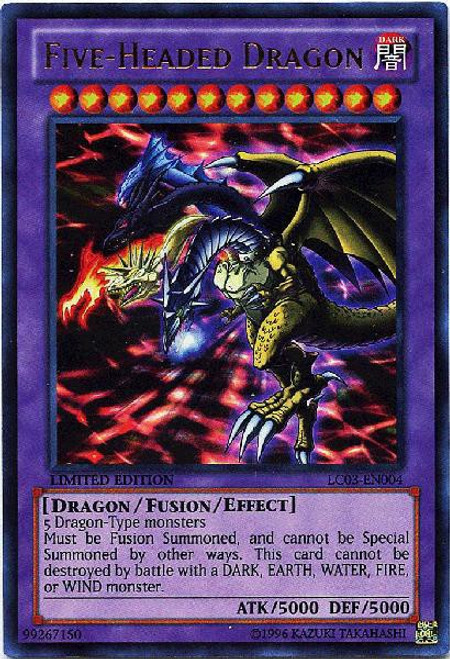YuGiOh Legendary Collection 3 Ultra Rare Five-Headed Dragon LC03-EN004