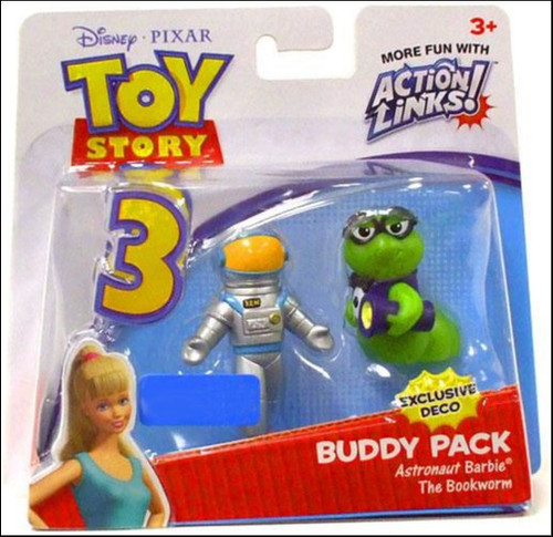 Toy Story 3 Action Links Buddy Pack Astronaut Barbie & The Bookworm Exclusive Mini Figure 2-Pack [Exclusive Deco]