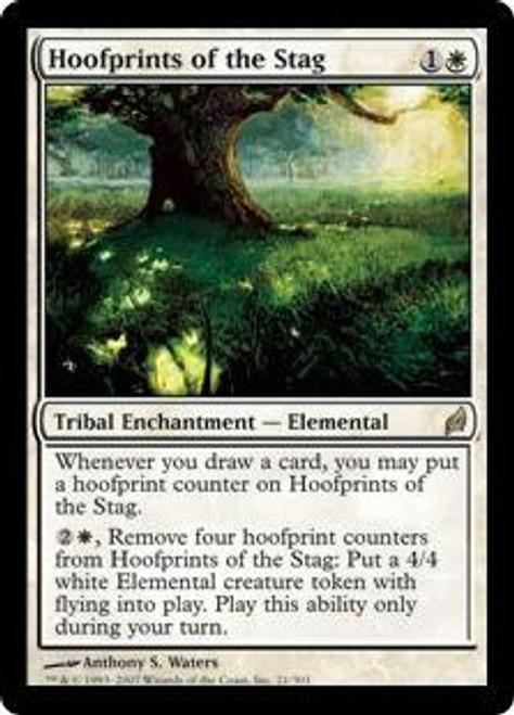MtG Lorwyn Rare Hoofprints of the Stag #21