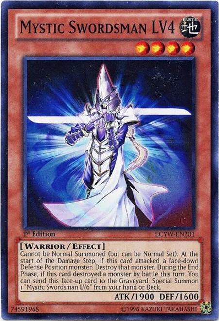 YuGiOh Legendary Collection 3 Common Mystic Swordsman LV4 LCYW-EN201