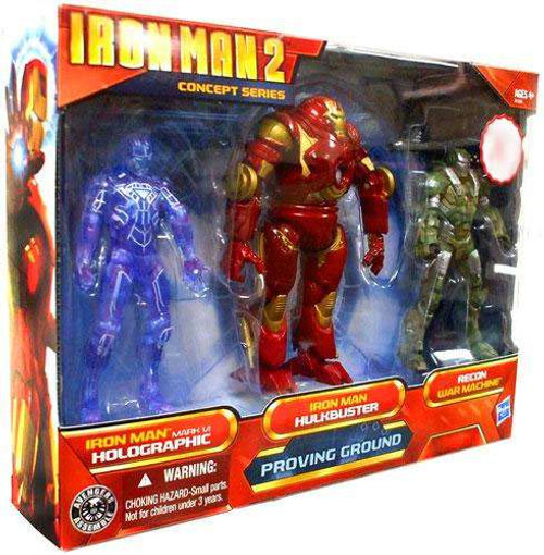 Iron Man 2 Concept Series Proving Ground Exclusive Action Figure Set