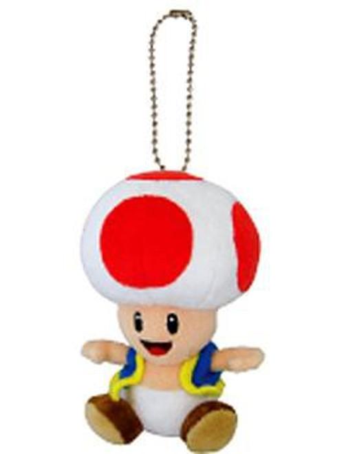 Super Mario Bros Toad 5-Inch Plush Keychain