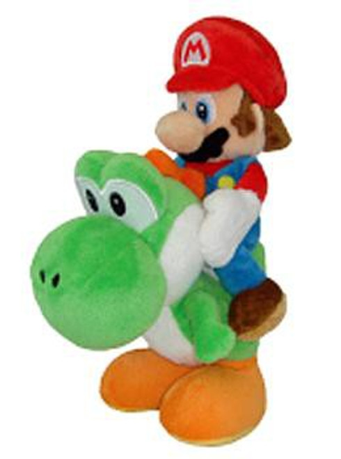 Super Mario Bros Mario 8-Inch Plush [Riding Green Yoshi]