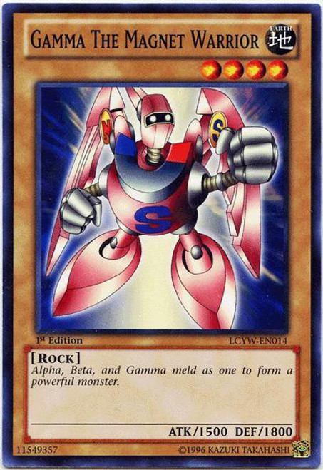 YuGiOh Legendary Collection 3 Common Gamma the Magnet Warrior LCYW-EN014