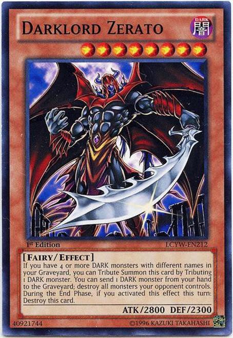 YuGiOh Legendary Collection 3 Common Darklord Zerato LCYW-EN212