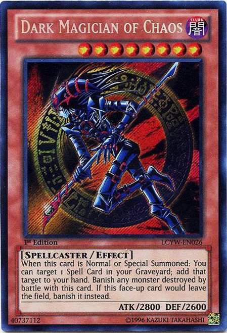 YuGiOh Legendary Collection 3 Secret Rare Dark Magician of Chaos LCYW-EN026