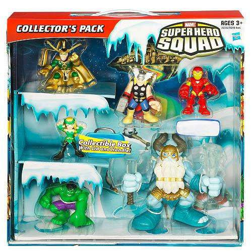 Marvel Super Hero Squad Collector's Pack Exclusive Action Figure 6-Pack [Thor, Iron Man, Hulk, Enchantress, Loki & Deluxe Savage Frost Giant]