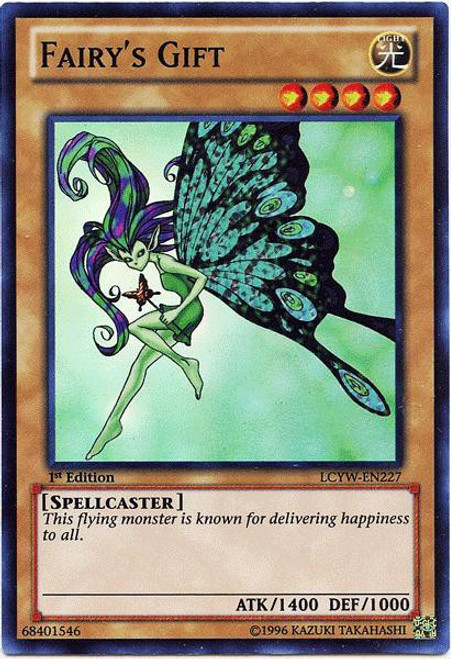YuGiOh Legendary Collection 3 Super Rare Fairy's Gift LCYW-EN227
