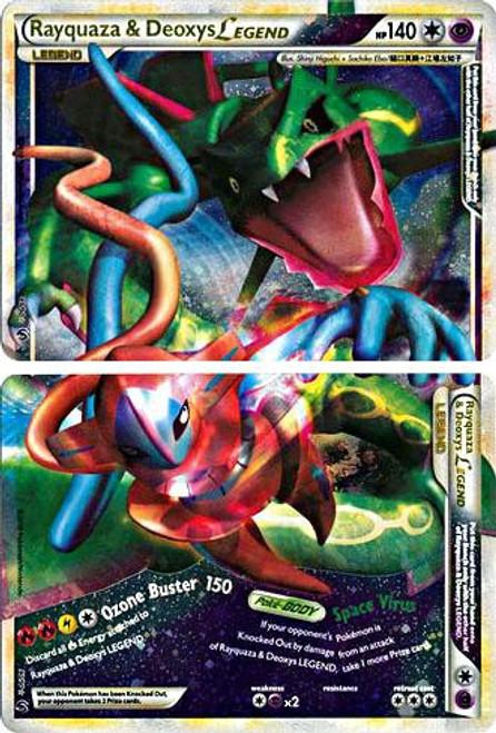 Pokemon HeartGold & Soulsilver Undaunted Ultra Rare Rayquaza & Deoxys LEGEND #89 & 90