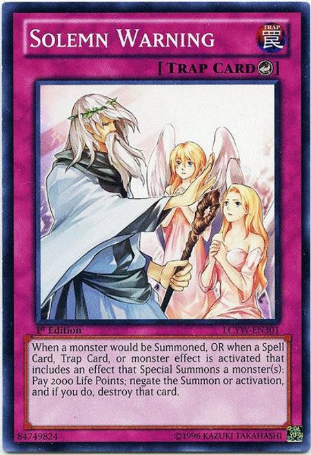 YuGiOh Legendary Collection 3 Common Solemn Warning LCYW-EN301