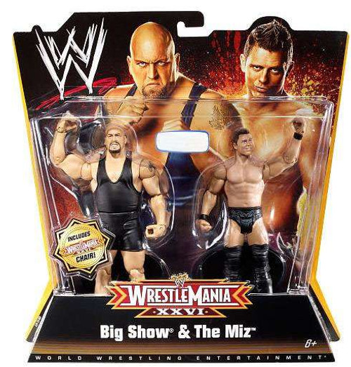 WWE Wrestling Battle Pack WrestleMania 26 Big Show & The Miz Exclusive Action Figure 2-Pack