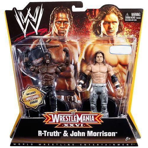WWE Wrestling Battle Pack WrestleMania 26 R-Truth & John Morrison Exclusive Action Figure 2-Pack