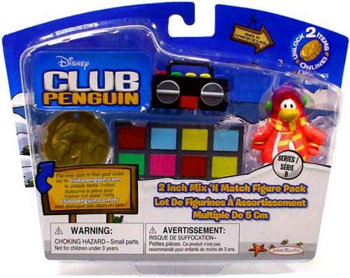Club Penguin Mix 'N Match Series 9 Cadence & Turntable Mini Figure Set