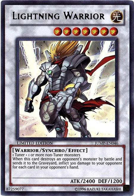 YuGiOh Shonen Jump Ultra Rare Lightning Warrior JUMP-EN046