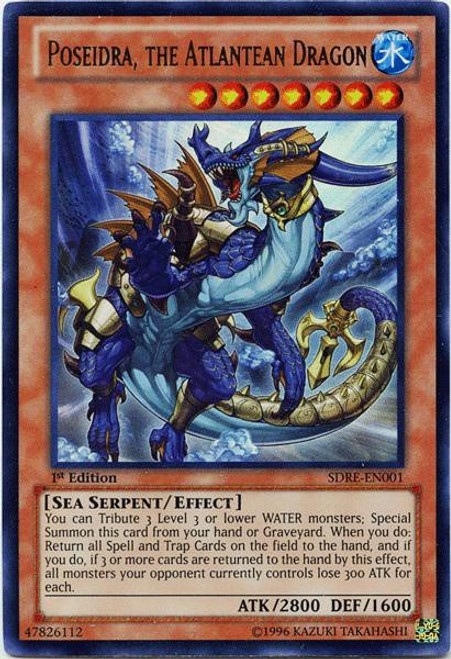 YuGiOh Structure Deck: Realm of the Sea Emperor Ultra Rare Poseidra, the Atlantean Dragon SDRE-EN001