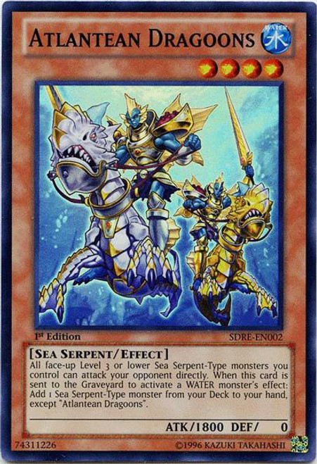 YuGiOh Structure Deck: Realm of the Sea Emperor Super Rare Atlantean Dragoons SDRE-EN002