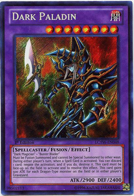 YuGiOh Legendary Collection 3 Secret Rare Dark Paladin LCYW-EN048