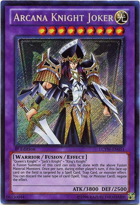 YuGiOh Legendary Collection 3 Secret Rare Arcana Knight Joker LCYW-EN051