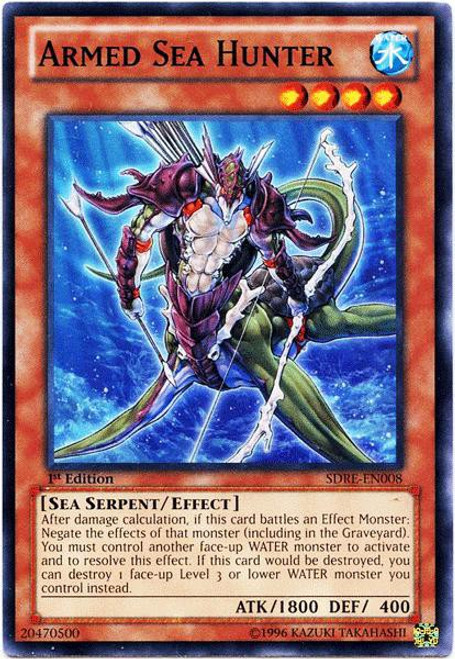 YuGiOh Structure Deck: Realm of the Sea Emperor Common Armed Sea Hunter SDRE-EN008