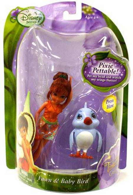 Disney Fairies Tinker Bell & The Great Fairy Rescue Fawn & Babybird 4-Inch Figure 2-Pack