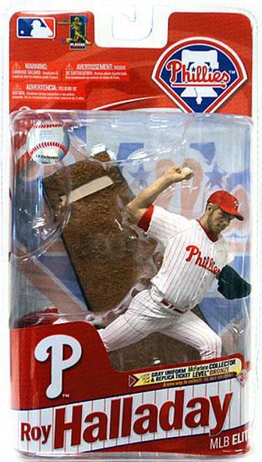 McFarlane Toys MLB Philadelphia Phillies Sports Picks 2011 Elite Series Roy Halladay Action Figure [White Jersey]