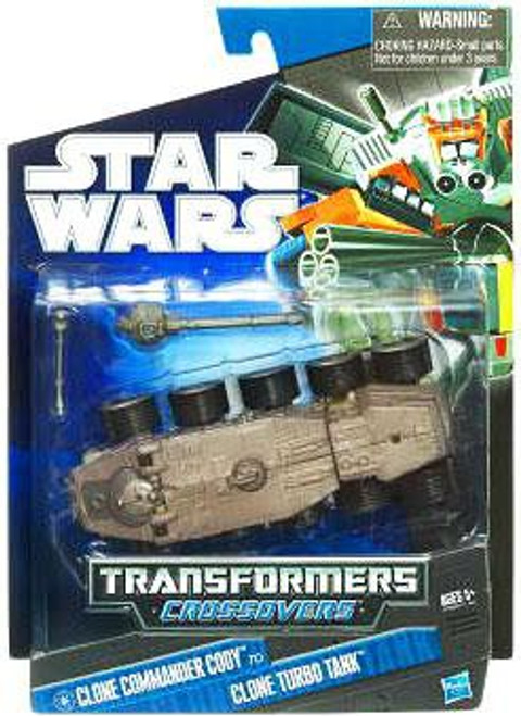 Star Wars The Clone Wars 2010 Transformers Crossovers Commander Cody to Clone Turbo Tank Action Figure