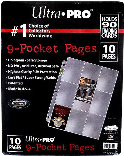 Ultra Pro Card Supplies Hologram Series 9-Pocket Pages [10 Pages]