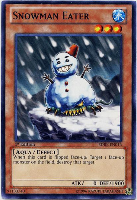 YuGiOh Structure Deck: Realm of the Sea Emperor Common Snowman Eater SDRE-EN016