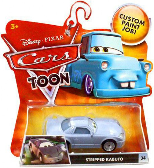 Disney / Pixar Cars Cars Toon Main Series Stripped Kabuto Diecast Car #34