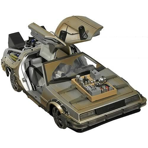 Back to the Future Part III Rail Ready Delorean Time Machine Vehicle