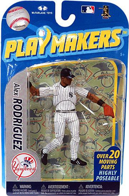 McFarlane Toys MLB New York Yankees Playmakers Series 2 Alex Rodriguez Action Figure [Fielding]