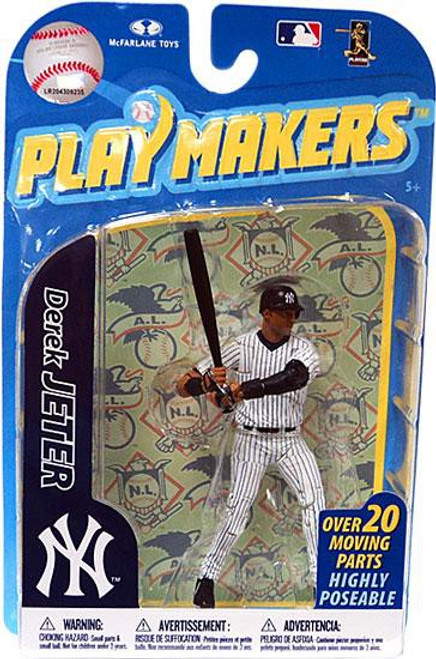 McFarlane Toys MLB New York Yankees Playmakers Series 2 Derek Jeter Action Figure [Batting]