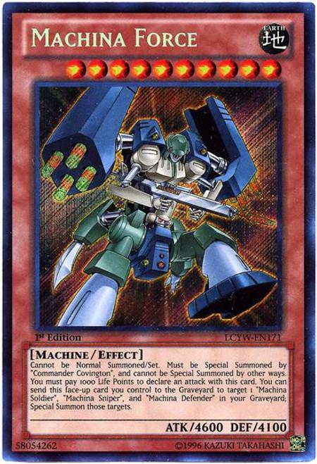 YuGiOh Legendary Collection 3 Secret Rare Machina Force LCYW-EN171