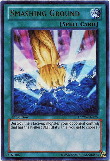 YuGiOh Legendary Collection 3 Ultra Rare Smashing Ground LCYW-EN275