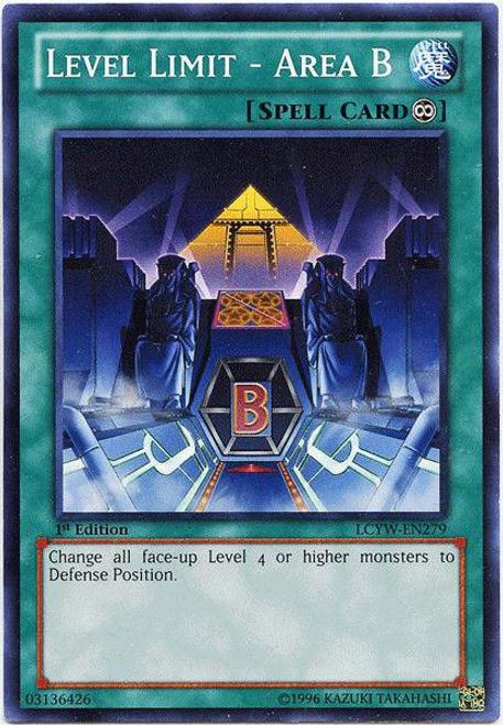 YuGiOh Legendary Collection 3 Common Level Limit - Area B LCYW-EN279