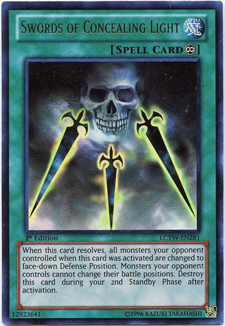 YuGiOh Legendary Collection 3 Ultra Rare Swords of Concealing Light LCYW-EN281