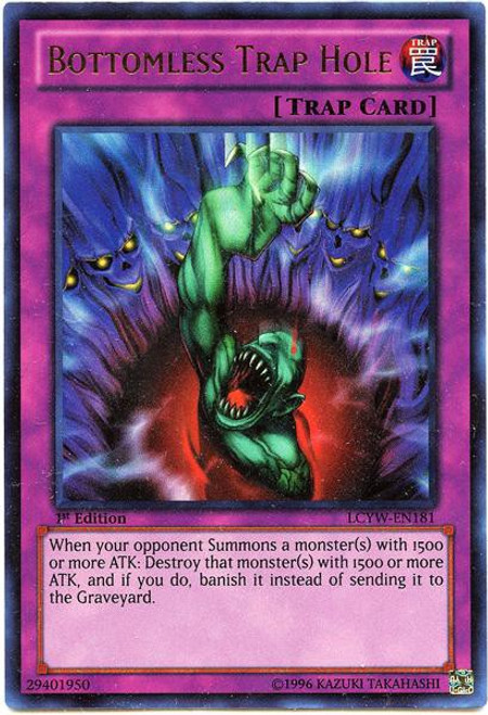 YuGiOh Legendary Collection 3 Ultra Rare Bottomless Trap Hole LCYW-EN181