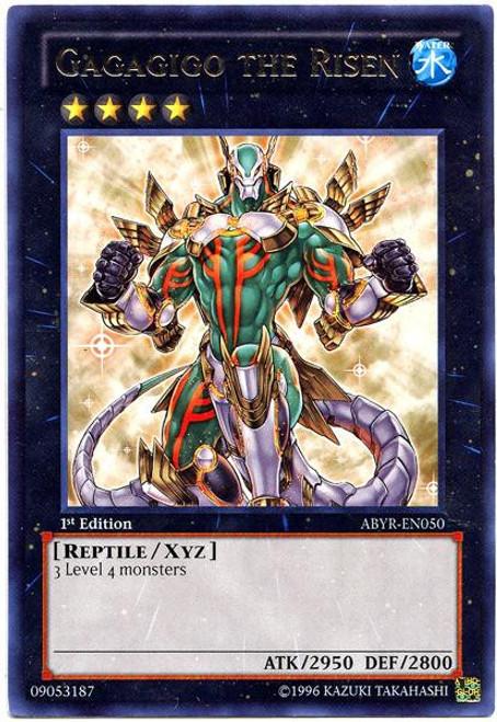 YuGiOh Trading Card Game Abyss Rising Rare Gagagigo The Risin ABYR-EN050