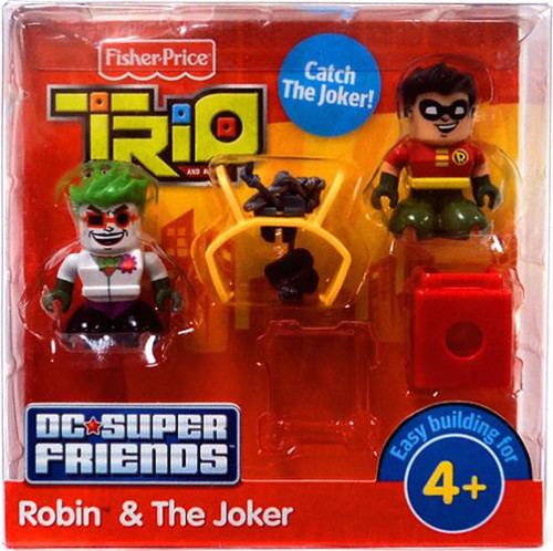 Fisher Price Trio DC Super Friends Robin & The Joker Minifigure 2-Pack