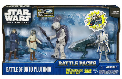 Star Wars The Clone Wars 2010 Battle Packs Battle of Orto Plutonia Action Figure 4-Pack