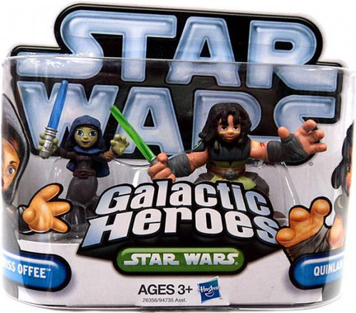 Star Wars The Clone Wars Galactic Heroes 2010 Barriss Offee & Quinlan Vos Mini Figure 2-Pack