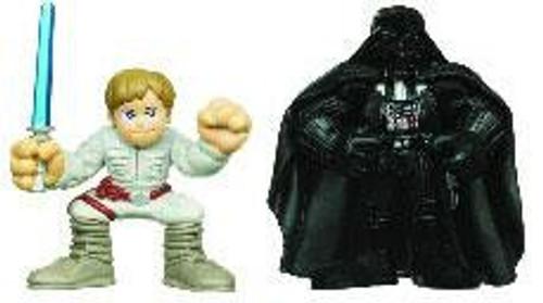 Star Wars The Empire Strikes Back Galactic Heroes 2010 Luke Skywalker & Darth Vader Mini Figure 2-Pack