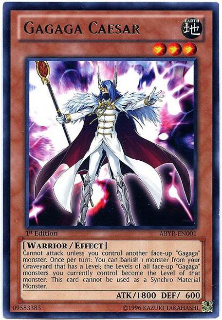 YuGiOh Zexal Trading Card Game Abyss Rising Rare Gagaga Caesar ABYR-EN001