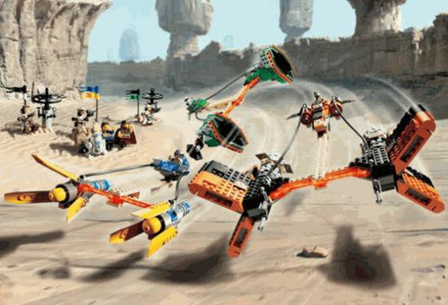 LEGO Star Wars Mos Espa Podrace Set #7171 [Loose, No Minifigures]